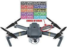 Set of 4 FAA Required Drone Registration Number Decal Set - Choose Color