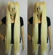 VOCALOID Hatsune Miku Blonde Extra Long Straight Split Cosplay Wig