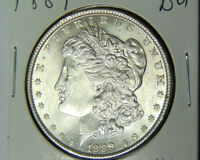 BU 1889 Morgan Silver Dollar Uncirculated Philadelphia Mint (61018)