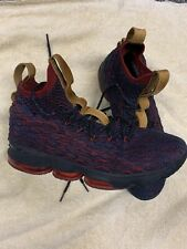 "Nike LeBron 15 ""New Heights"" Dark Atomic Teal Black Red Size 11.5"