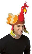 Unisex Adult Funny Thanksgiving Football Deluxe Turkey Hat Costume Accessory