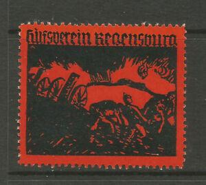 WWI Regensburg Assistance Association charity stamp/label