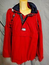 Ralph Lauren Chaps Hooded Sailing Jacket WITH HOOD SIZE XL PULL OVER RED