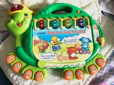 Vetch Touch & Teach Turtle Sounds Lights and Book 3+