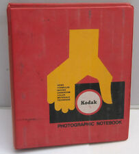 """Kodak 1.5"""" Binder for 5 3/4 x 8 1/2"""" Data Publications - Red 4-Ring - USED F15"""