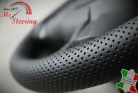 FOR LAND ROVER DISCOVERY 1 98-04 BLACK PERFORATED LEATHER STEERING WHEEL COVER