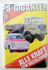 Mini Blechschild Schild Alle Kraft dem Sozialismus Trabant W50 DDR Postkarte
