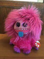 New 2016 Halloween Ty Medium Frizzys Zeezee Pink Monster 10 In Mwmt