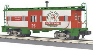MTH 30-77042 Christmas Bay Window Caboose LN/Box