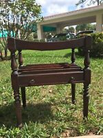 Antique Wooden Magazine or Retail Display Rack - Canterbury style