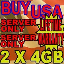 8GB (2X4GB) KIT DELL PRECISION WORKSTATION 690 T5400 T7400 RAM MEMORY FBDIMM