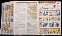 Safety Instructions Card Japan Air Lines B747 SR-SUD LR-SUD JAL Airline
