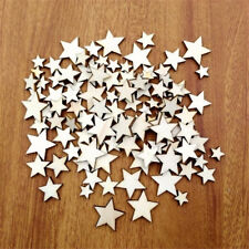 100 Mixed Five-pointed Star Shape Sewing Scrapbook Craft Wooden Buttons