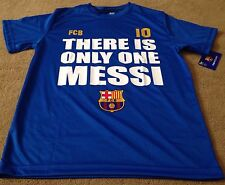 MEN'S FCB BARCELONA THERE IS ONLY ONE MESSI #10 FÚTBOL SHIRT-MEDIUM-NWT!