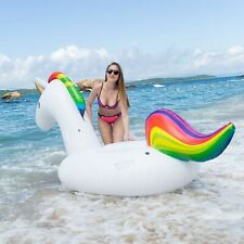NEW SLAIYA Giant Unicorn Inflatable Swimming Pool Float Raft For Adults & Kids