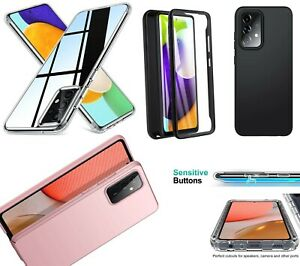for Samsung Galaxy A52s / A52 Clear Case Slim Full Body Silicone Gel Phone Cover