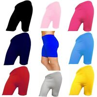 LADIES CYCLING STRETCHY COTTON LYCRA SHORT ACTIVE WOMENS LEGGINGS CASUAL SPORT
