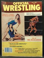 Official Wrestling Magazine WWF WWE NWA AWA WCW July 1984 Mil Mascaras Zebra Kid