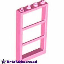 LEGO Lot x1 Bright Pink Window 1 x 4 x 6 Frame 3 Panes No Glass Friends Set 7586