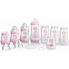 MAM 15-tlg Starterset rosa Babyflaschen 8 Flaschen Sauger Schnuller Anti-kolik