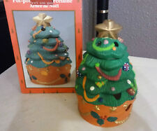 NEW 1998 Heritage Mint Holiday Collection Potpourri Pot Christmas Tree Porcelain