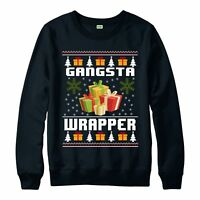 Christmas Jumper, Gangsta Wrapper Funny Xmas Festive Gift Jumper Top