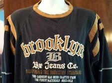 BROOKLYN Bx Jeans Company Shirt Size L Black  Long Sleeve EUC