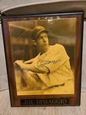 joe dimaggio signed photo with letter of authenticity