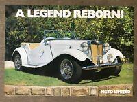 MG MGTD Limited original sales brochure