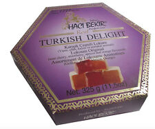 HACIBEKIR Oldest Company, Turkish Delight FRUIT FLAVOURED ASSORTED  325g