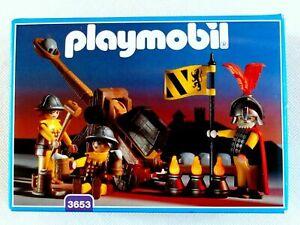 Playmobil 3653 Set 3 Ritter mit Steinschleuder Katapult vollständig Bauanleitung