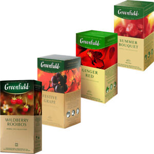 Fruit & Berry Tea Greenfield 25 Teabags Many Flavors Free Worldwide Shipping