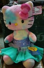 BUILD A BEAR Retired Watercolor TIE DYED HELLO KITTY Plush Doll christmas gift