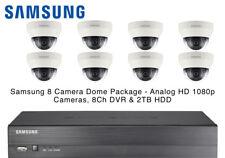 Samsung 8 domo CCTV cámaras ir dispositivo antimanipulación 1080p Lente 4 mm & 8CH Tiempo Real DVR 2 TB HDD
