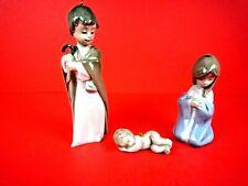 3 Piece Lladro Nativity Scene Christmas Ornaments