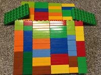 random LEGO DUPLO 60 BUILDING BLOCKS BRICKS Multicolor 2x4 2x2 Thin 2x4