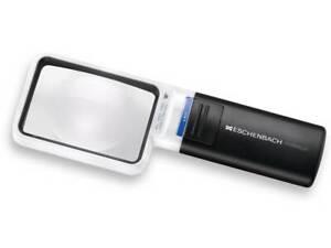 Eschenbach Mobilux 15114 LED 4X Magnifier - 75x50mm Rectangular Lens