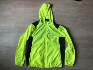 Nike Golf Running Jacket Mens Large Zip Up Volt Yellow Charcoal