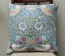 "Cushion in William Morris Strawberry Thief Slate 16"" - Sanderson Fabric"