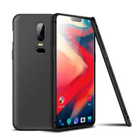 For OnePlus 6 Case Slim Silicone Ultra Soft Gel Cover - Matte Black
