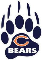 Chicago Bears Paw Decal ~ Car / Truck Vinyl Sticker - Wall Graphics, Cornholes