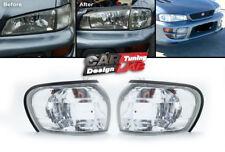 Clear Side Marker Corner Light Lamps E-Mark For Subaru Impreza WRX STI GC8 92-00
