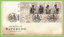 G.B. 2015 Battle of Waterloo Barcode M/S Royal Mail First Day Cover, Deal Kent