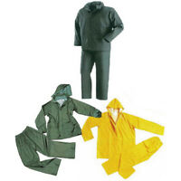 Completo Impermeabile Pvc Da Lavoro Giacca Pantaloni Unisex Taglia L Large 3300