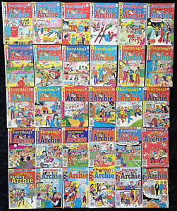 VINTAGE Everything's Archie Comics (Lot of 25) 1971-1990 Betty Veronica Jughead