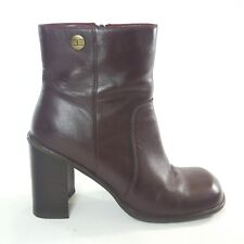 a7994cc21 Tommy Hilfiger Womens 9m Brown Leather Boots 3.5