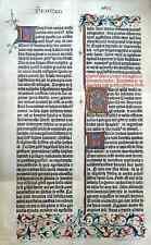 Faksimile von GUTENBERGS 42zeiliger BIBEL um 1455 +Chromolithographie von 1895+