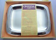 "ONEIDA Profile Oblong 12.5"" Serving Tray 18/8 Gleaming Stainless Steel NEW"