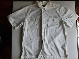 Harley Davidson Motorcycle Men's Size Large White Button Up Shirt Dress Shirt
