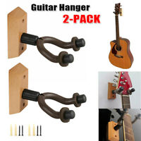NEW 2 Pack Ohuhu Guitar Hanger Hook Wall Mount Guitar Stand Keeper Holder
